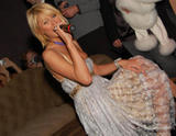 Paris Hilton almost pops out as she parties it up in Boston nightclub