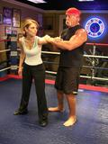 Maria Menounos Learning Wrestling from Hulk Hogan