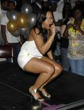 Ashanti very leggy as she promotes her new CD The Declaration at Virgin Megastore Times Square in New York City